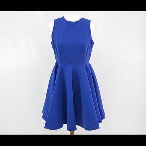 AQ/AQ Womens Blue Robyn Mini Sleeveless Dress